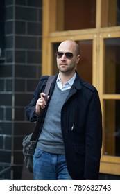 businessman walking in the street