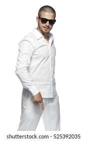 businessman wearing white clothes