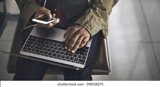 Businessman Working Computer lifestyle Concept