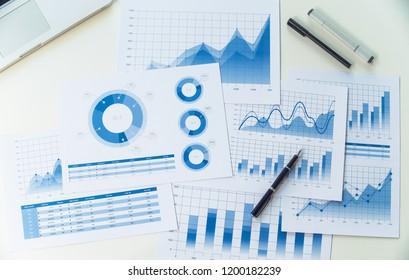 businessman working data document