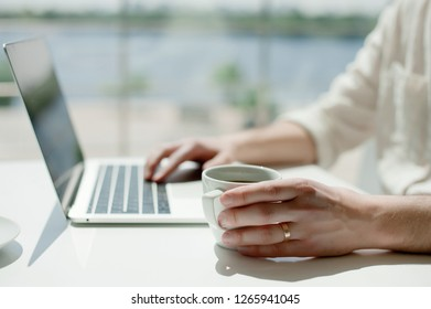 Businessman working laptop for new architectural project.