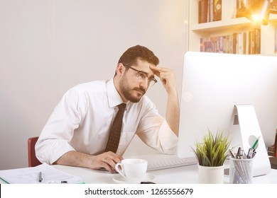 businessman working at office