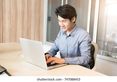 Businessman working in the Office with labtop Concept.