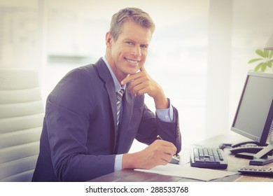 Businessman working on the office