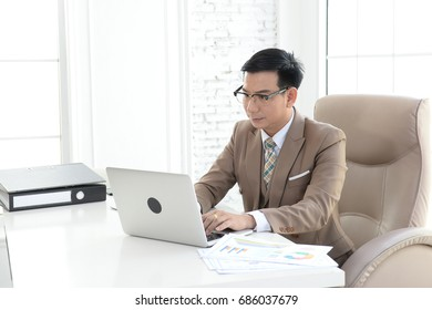 Businessman are working a rush working in office. Hard work can affect health.