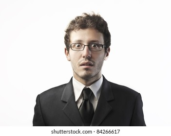 Businessman with worried expression