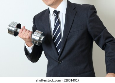 Businessman's physical strength
