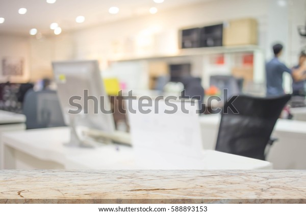 Businessmen blur in the workplace.