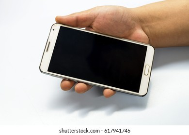 Businessmen are communicating by mobile phone.
