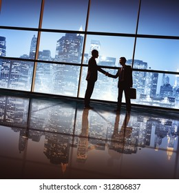 Businessmen Deal Business Handshake Greeting Concept