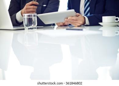 Businessmen discussing