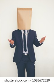 Businessmen with empty mask