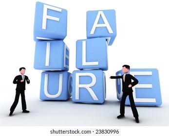businessmen facing failure