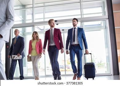 Businessmen go to business trip