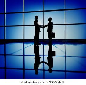Businessmen Handshaking Contract Corporate Business Concept
