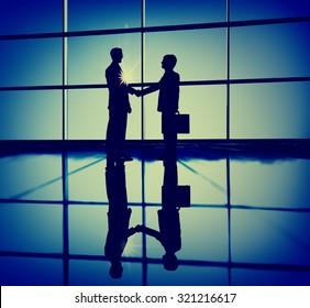 Businessmen Handshaking Contract Deal Business Concept