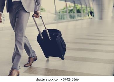 Businessmen Luggage Business Trip Travel