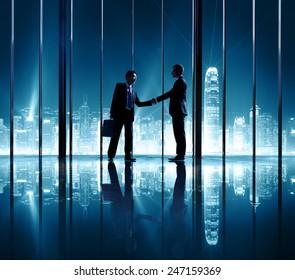 Businessmen Partnership Support Success Team Concept