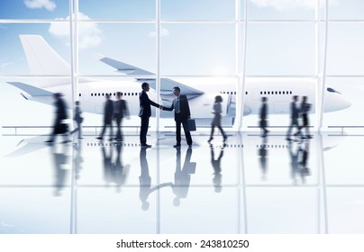 Businessmen Partnership Travel Destination Business Trip Concept