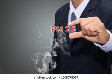 Businessmen with PM 2.5 dust in the capital