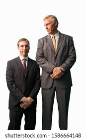 Businessmen posing, tall, small, cut out - Shutterstock ID 1586664148