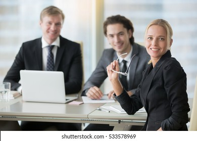 Businessmen with potential client, female run businesses, successful entrepreneur sharing advice, celebrate achievement, importance of connections in business, small business owners, hiring a PR firm
