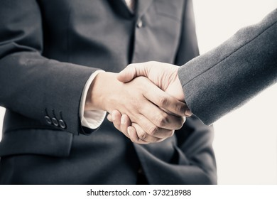 Businessmen shaking hands making an agreement