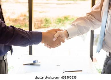 Businessmen shaking hands , Two businessmen Shaking hands