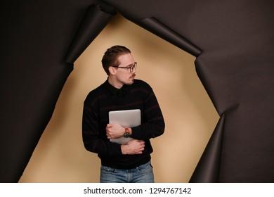 Businessmen in studio