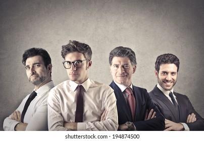businessmen team