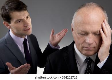 Businessmen Under Pressure