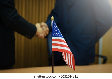Businessmen from the United States country. To handle economic partner