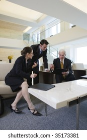 Businesspeople discussing