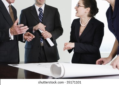 Businesspeople in discussion