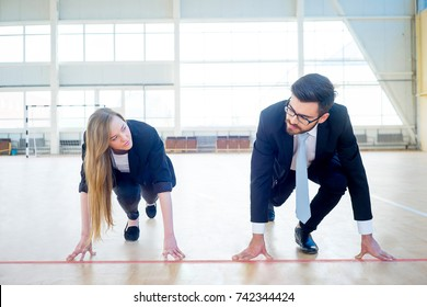 Businesspeople at a gym