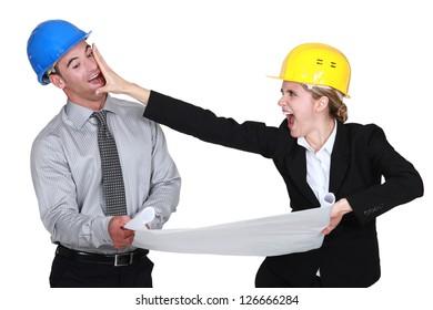 businesspeople having a quarrel