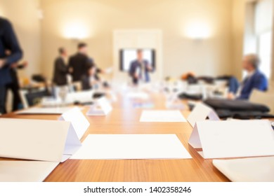 businesspeople at meeting in conference room