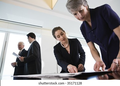 Businesspeople planning