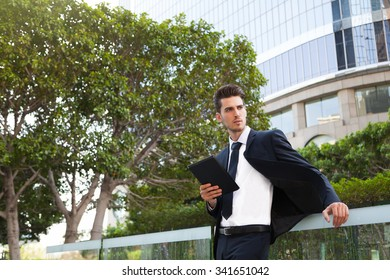 Businessperson in downtown