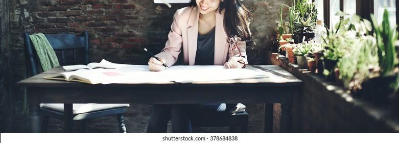 Businesswoman Beautiful Occupation Confident Concept