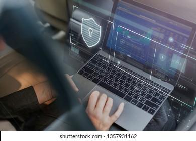 Businesswoman checking her stock market data