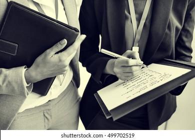 Businesswoman Corporate Colleagues Talking Concept
