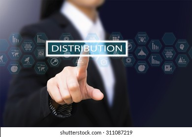 businesswoman , distribution concept