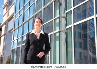 Businesswoman downtown