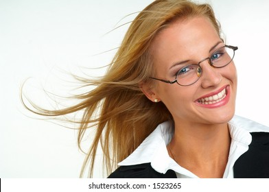Businesswoman with eyeglasses