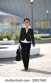 businesswoman going to work