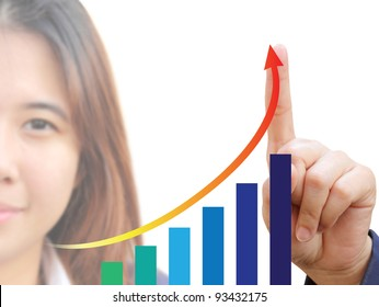 Businesswoman and graph
