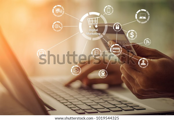 Businesswoman Hands Holding Credit Card Using Stock Photo (Edit Now)  1019544325