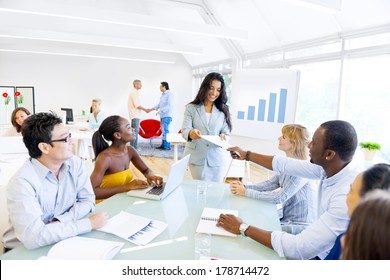 Businesswoman Having Presentation at Office