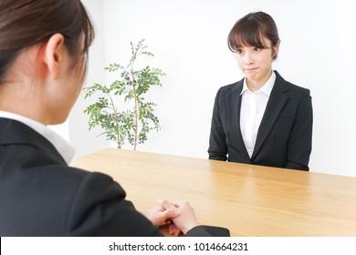 Businesswoman interview image